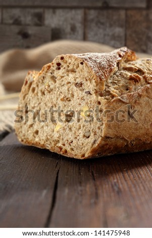 bread  on table closeup photo