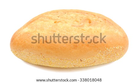 bread roll on white background  - stock photo