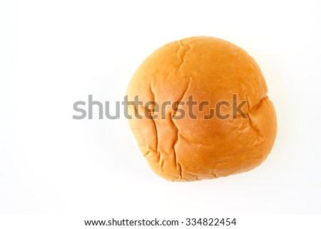 bread rolls bun on white background - stock photo