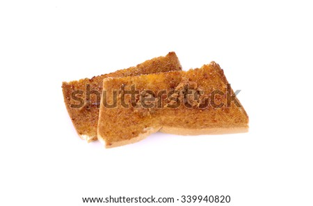 bread rusks isolated on white background - stock photo