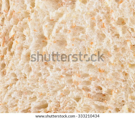 Bread slice , clipping path included
