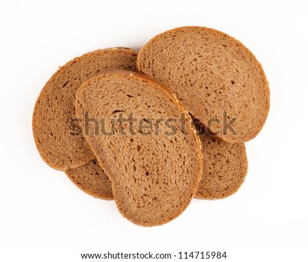 bread slice heap background white