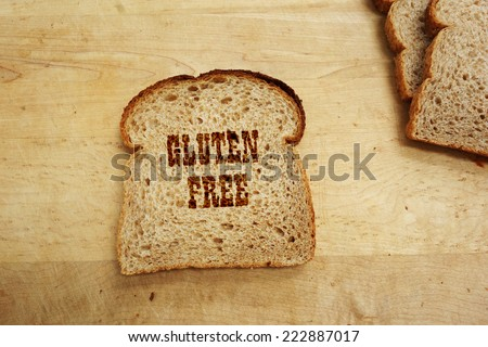 Bread slice with Gluten Free text