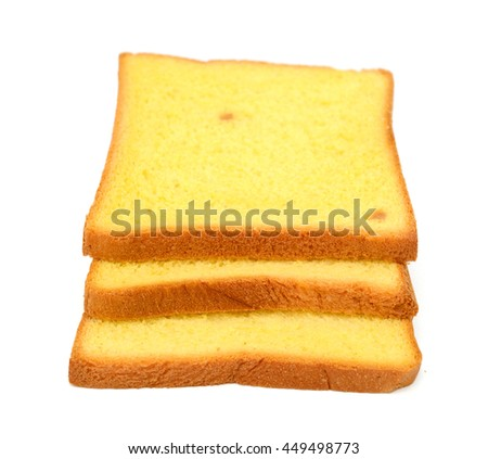 bread slices isolated on white
