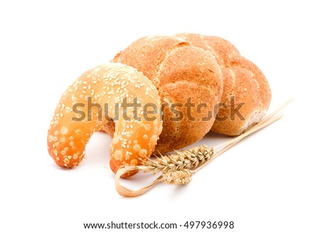 bread studio isolated over white