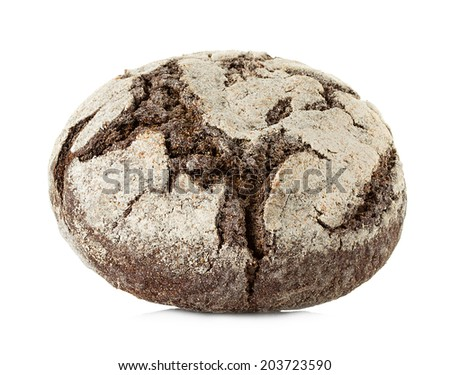 bread the Rye isolated on white background - stock photo