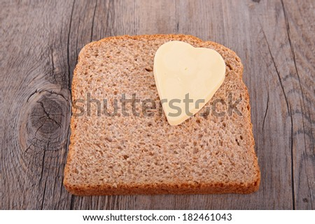 bread toast and butter