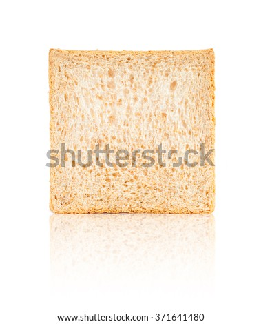 Bread, whole wheat single isolated on white background