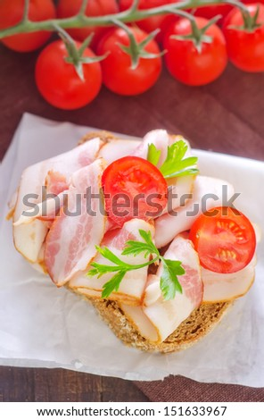 bread with bacon
