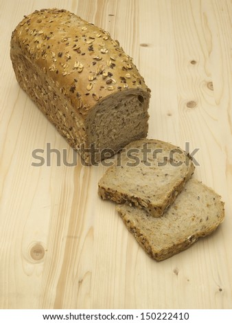 Bread with grains