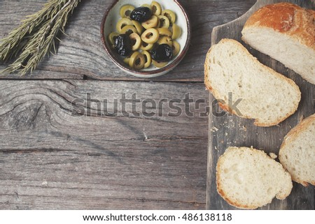 Bread with olive