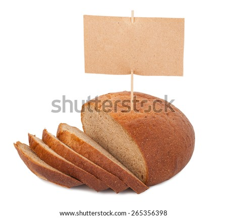 Bread with price tag - stock photo