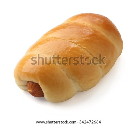 Bread with sausage  - stock photo