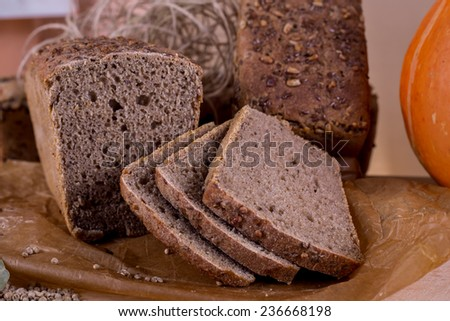bread with sunflower seeds, loaf