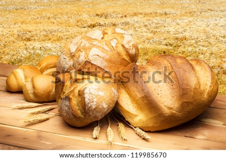Bread with wheat