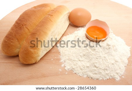 bread with wheat and egg