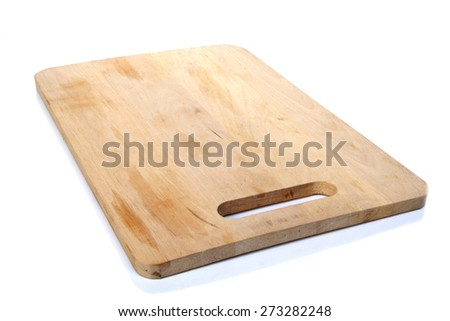 Breadboard on white background - close-up