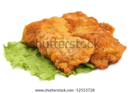 breaded meat - stock photo