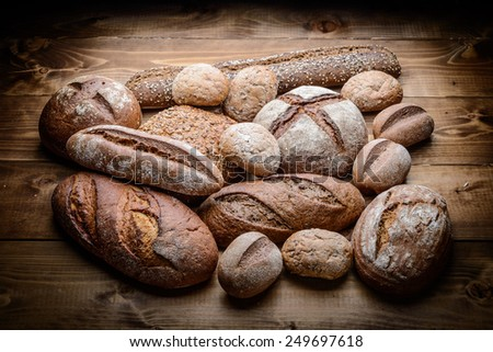 breads on the wooden