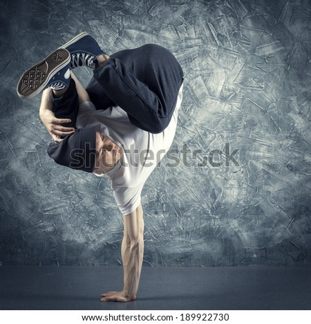Break dancer - stock photo