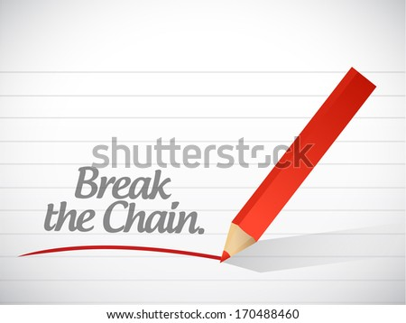 break the chain message illustration design over a white background