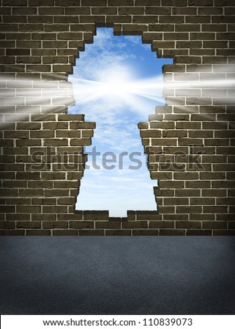 Breaking Through Stock Images Royalty Free Images