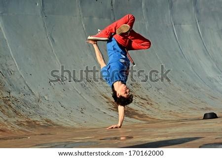 Breakdancer - stock photo