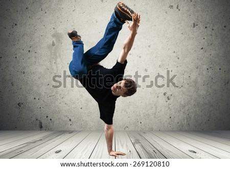 Breakdancing. Breakdancer - stock photo