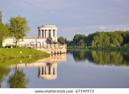 Breakdown gate building, Moscow Canal, Dubna, Russia