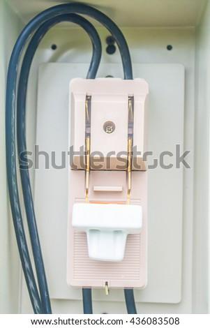 breaker switch - stock photo