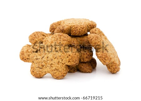 Breakfast biscuits isolated on a white background