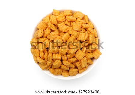 Breakfast cereal isolated on a white background - stock photo