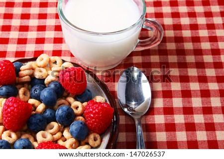 Breakfast cereal with berries