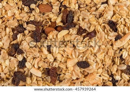 breakfast cereals background texture close up shot