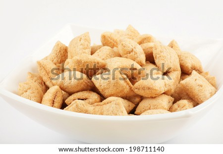 Breakfast cereals/ bowl full of cereal  - stock photo