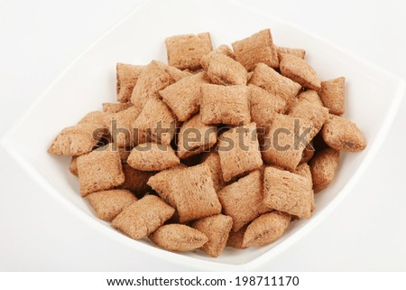 Breakfast cereals/ bowl full of cereal with chocolate  - stock photo