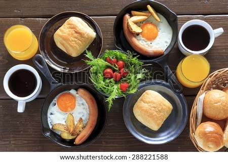 Breakfast for a couple - stock photo