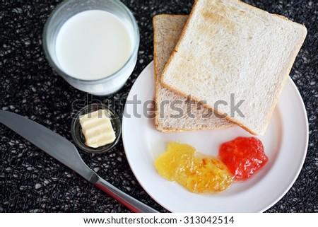 Breakfast in Resort, Thailand - stock photo