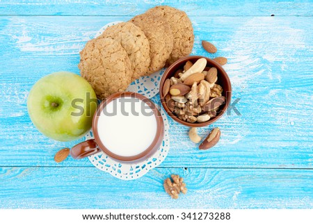 breakfast on table - stock photo