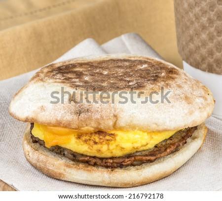 Breakfast sandwich - stock photo