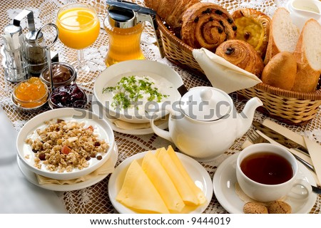 breakfast set - stock photo