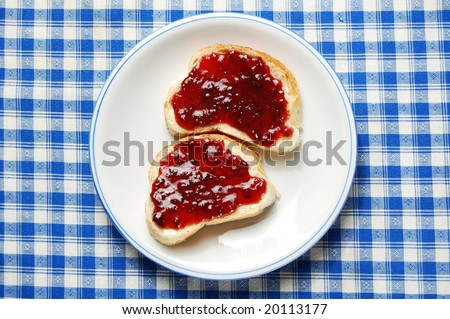 Breakfast Toast with Jam