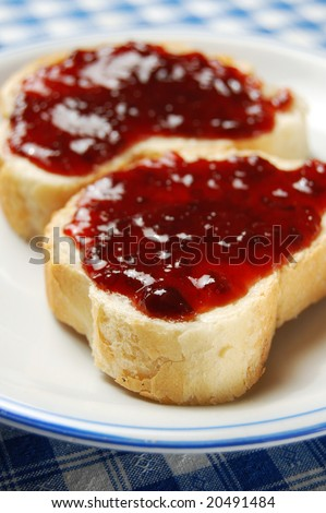 Breakfast Toast with Jam (shallow DOF)