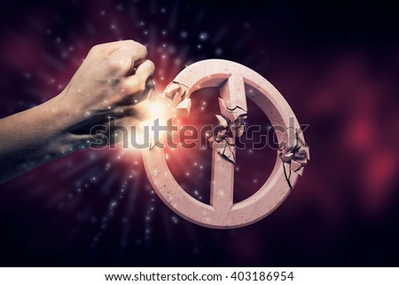 Breaking all prohibitions - stock photo