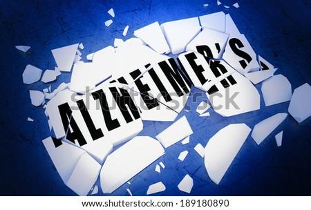Breaking Alzheimer's  - stock photo