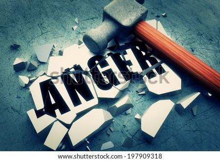 Breaking anger - stock photo