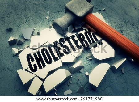 Breaking Cholesterol - stock photo