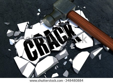 Breaking crack