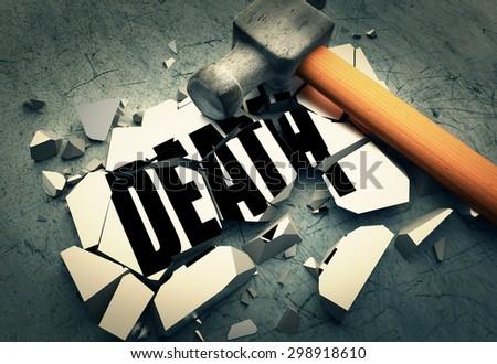 Breaking death - stock photo