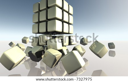 Breaking Down the Chain - stock photo